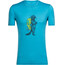 Icebreaker Tech Lite Waschbar Wandering t-shirt Heren blauw